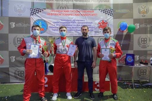 В Грозном состоялся чемпионат по картингу среди студентов