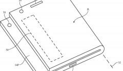 Новый патент описывает ещё один вариант складного iPhone, на этот раз с аналогом TouchBar