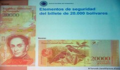 В Венесуэле на фоне гиперинфляции введут банкноты в 1 млн боливаров