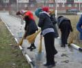 В Грозном проходят масштабные субботники