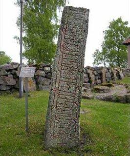 Надгробный камень времен викингов; Швеция