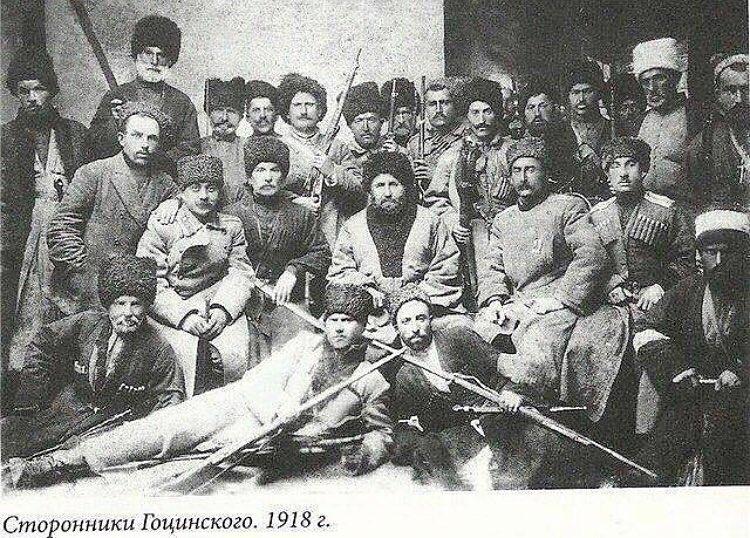 Сторонники Гоцинского. 1918г.
